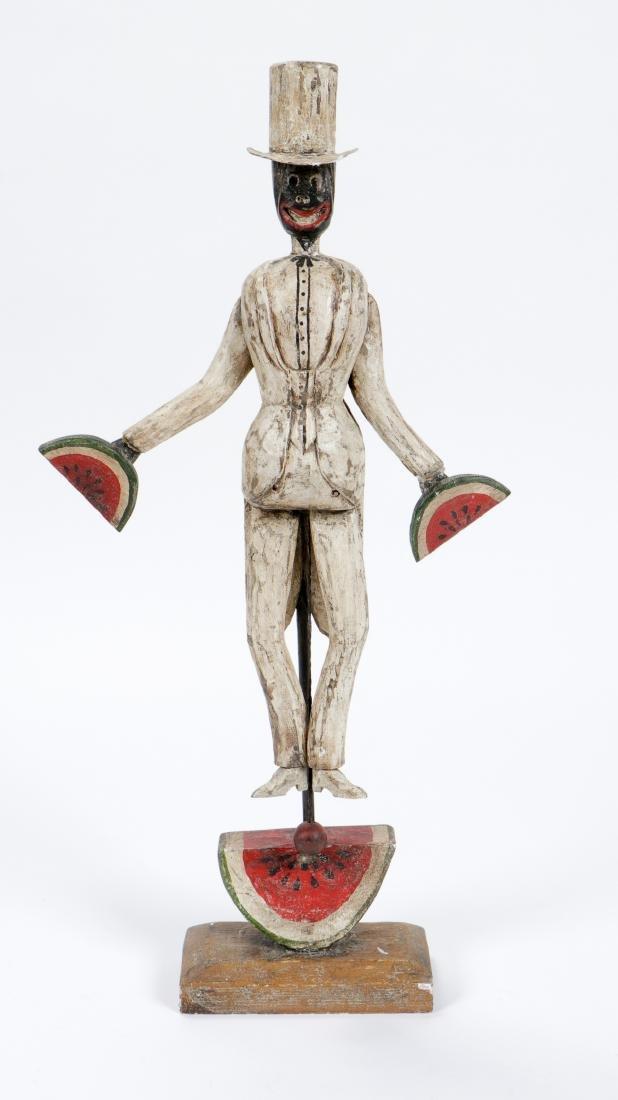 Vintage Carved and Painted Wood Bo Jangles Figure