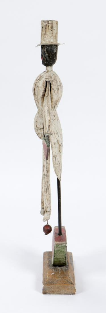 Vintage Carved and Painted Wood Bo Jangles Figure - 2