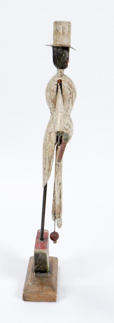 Vintage Carved and Painted Wood Bo Jangles Figure - 3