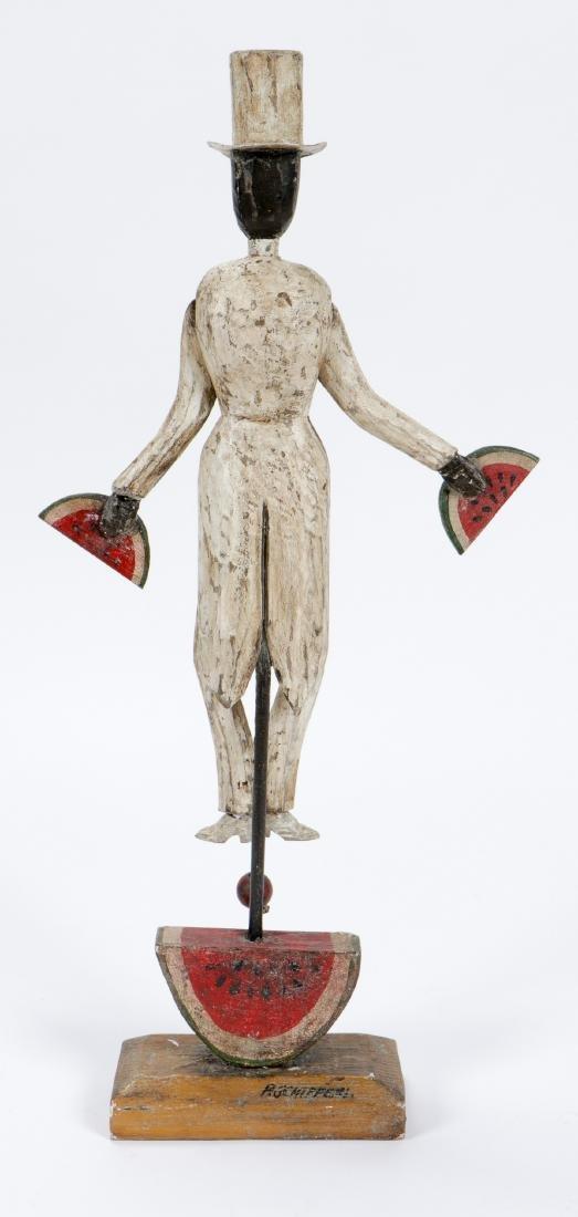 Vintage Carved and Painted Wood Bo Jangles Figure - 4