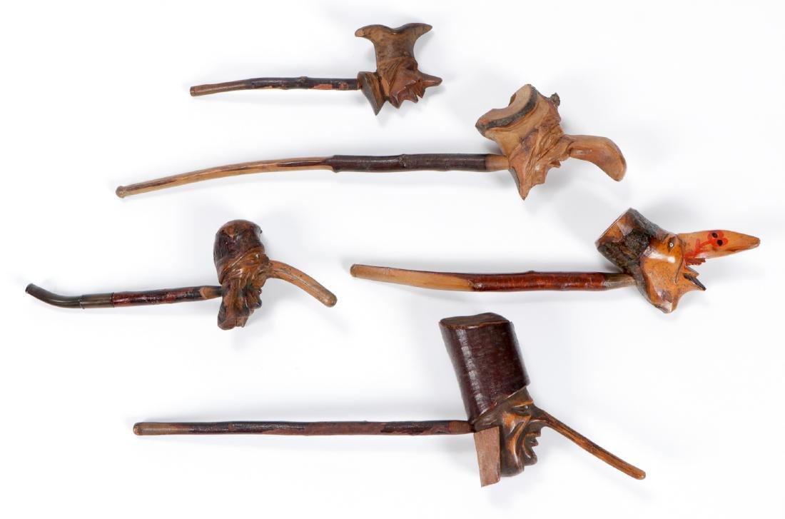 5 Anti-Semitic Carved Folk Art Pipes