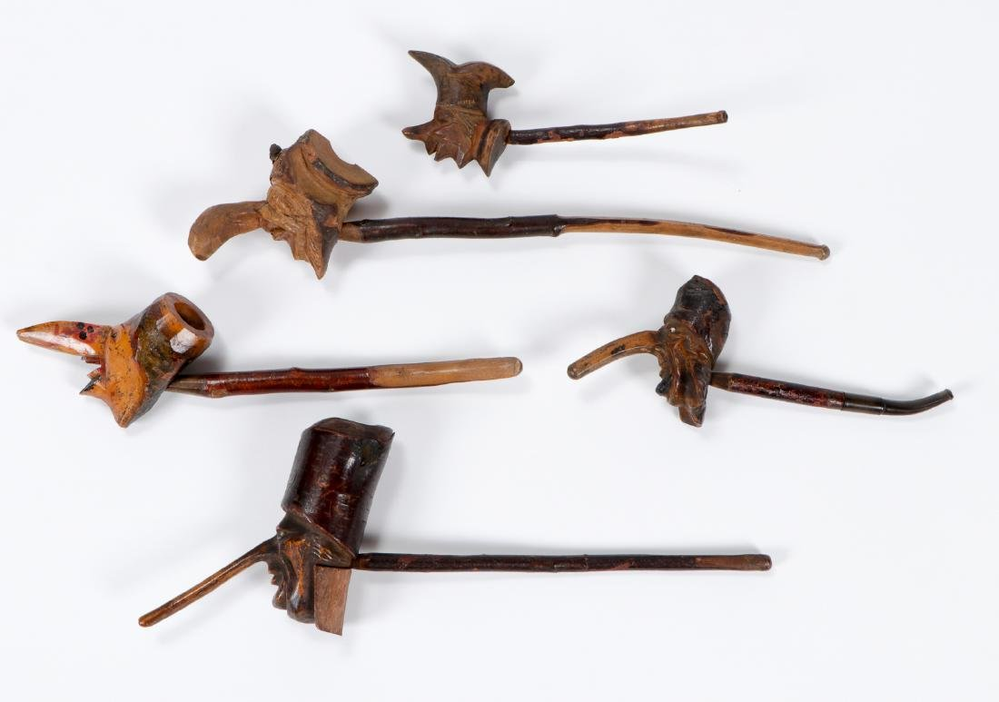 5 Anti-Semitic Carved Folk Art Pipes - 2