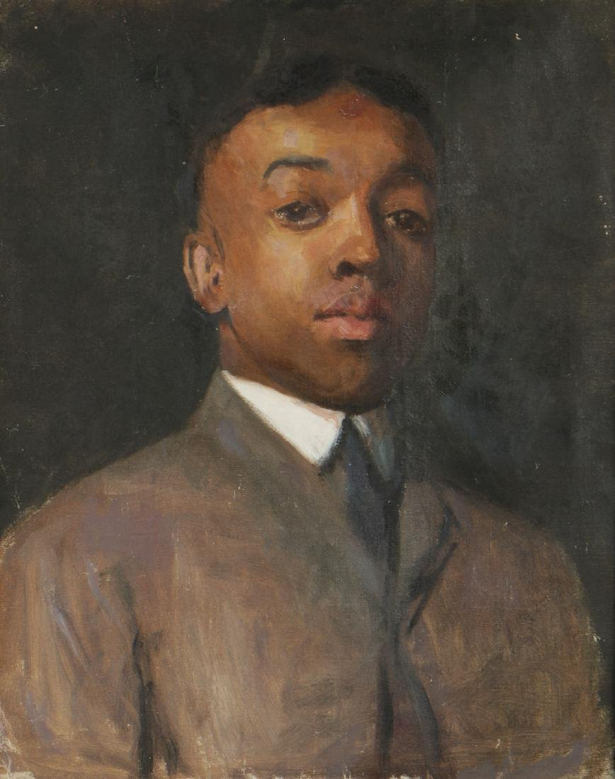 Portrait of an African American Gentleman, Oil on
