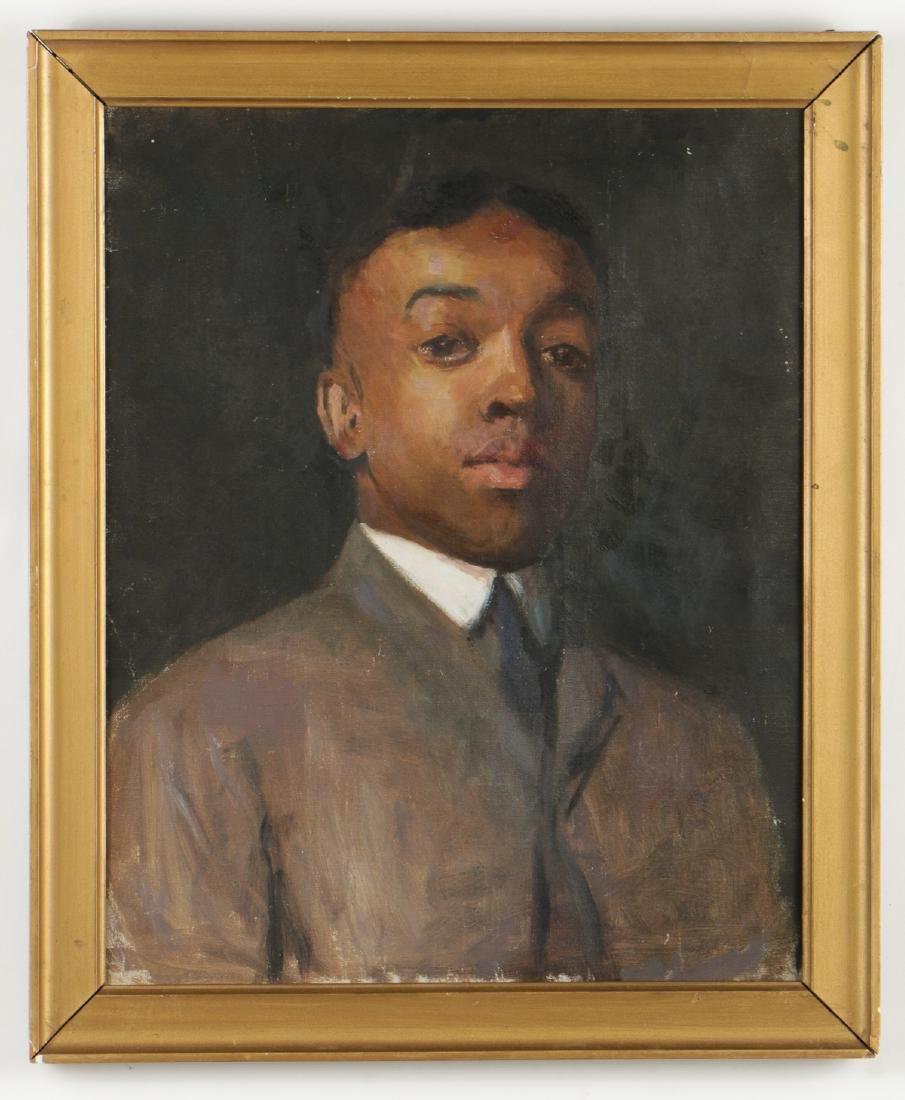 Portrait of an African American Gentleman, Oil on - 2