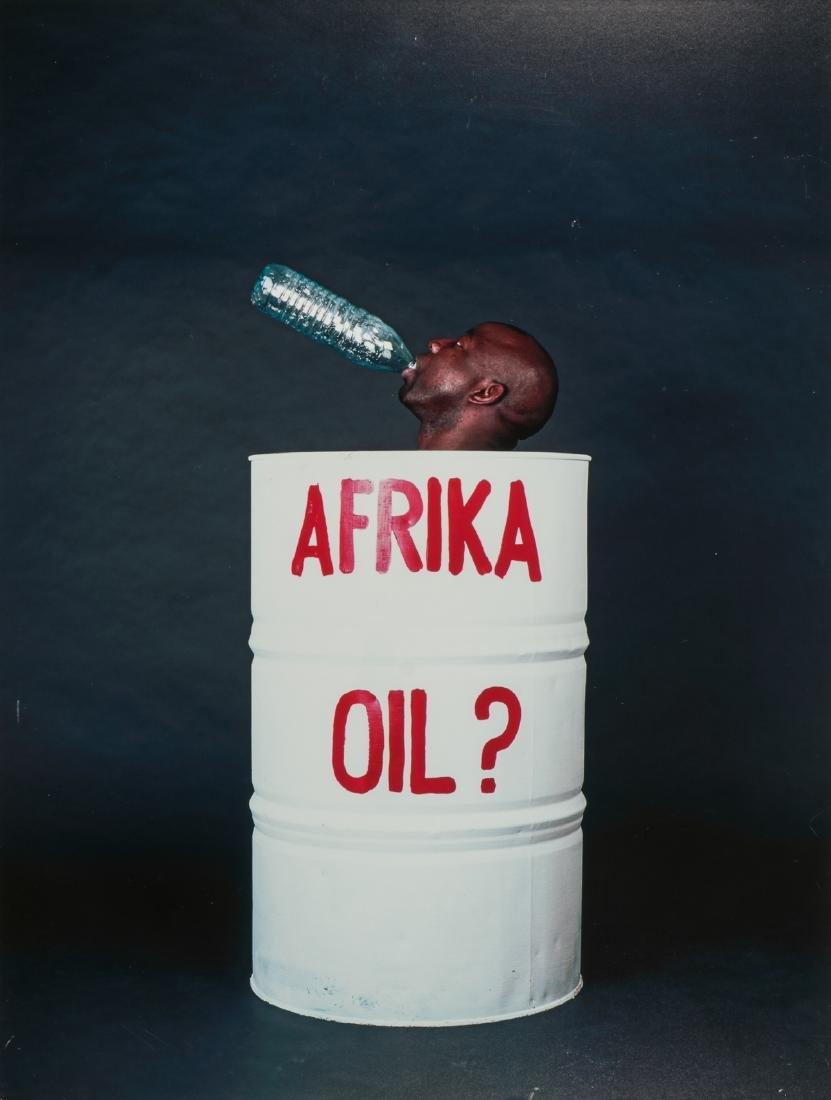 "Barthelemy Toguo (Cameroon, b. 1967) ""Afrika Oil"""