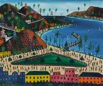 Prefete Duffaut (Haitian/Jacmel, 1923-2012) Oil