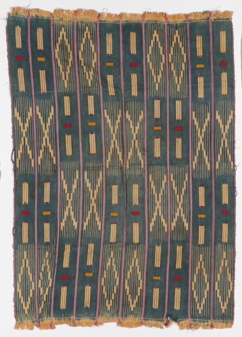 3 Vintage West African Indigo Ikat Cloths - 3