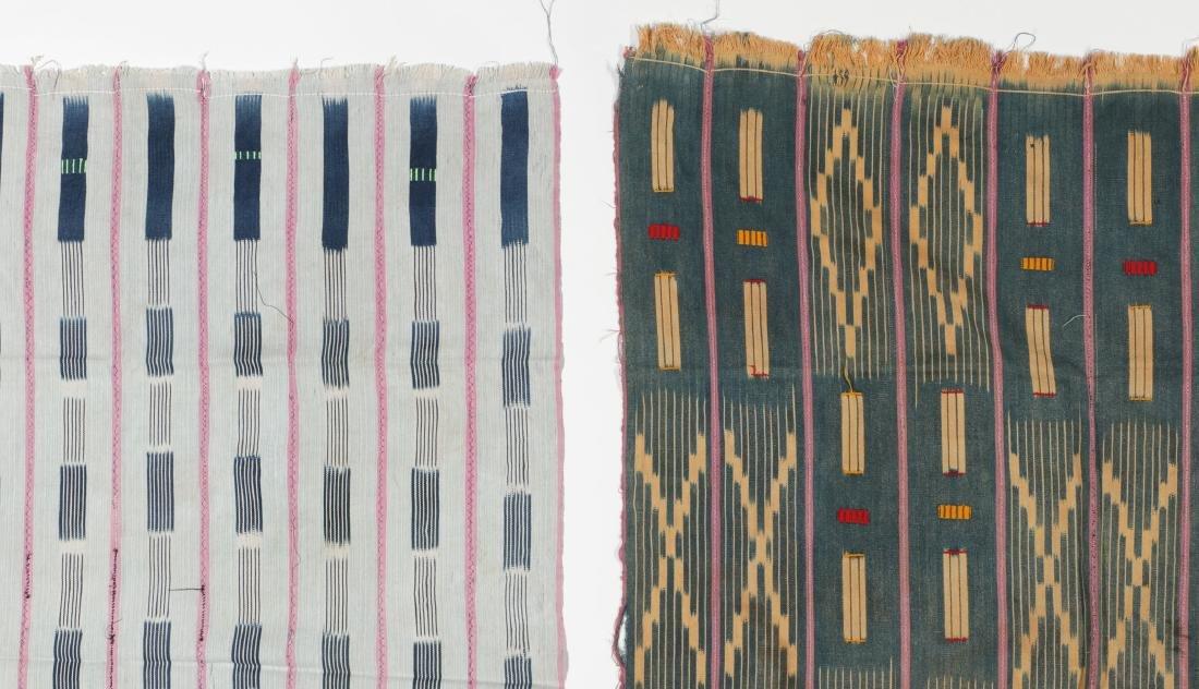 3 Vintage West African Indigo Ikat Cloths - 6
