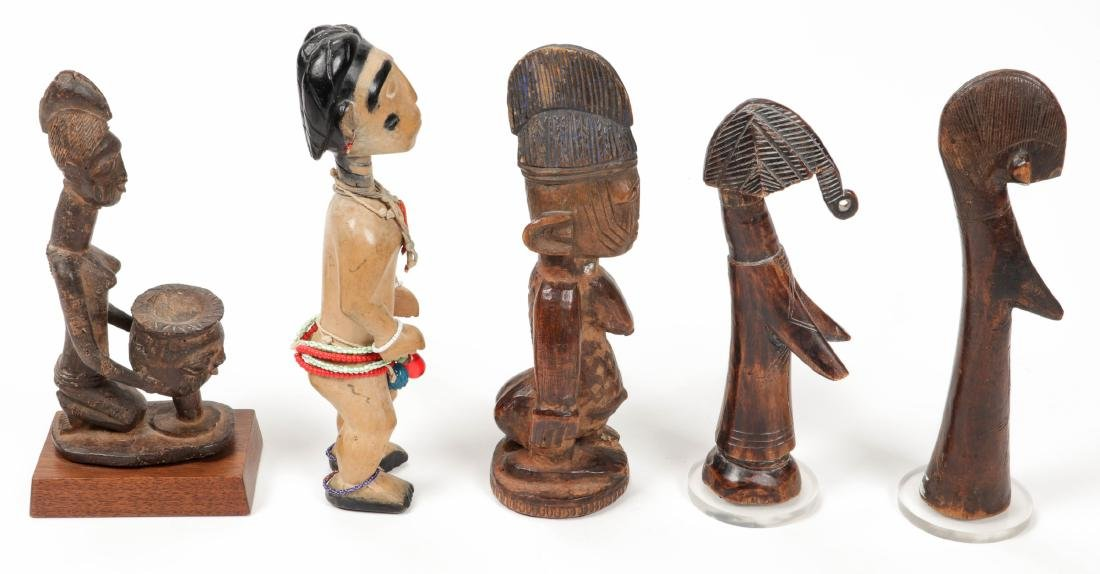 5 West African Figural Carvings - 4
