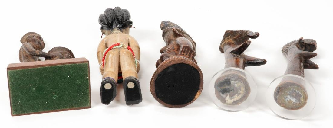 5 West African Figural Carvings - 5
