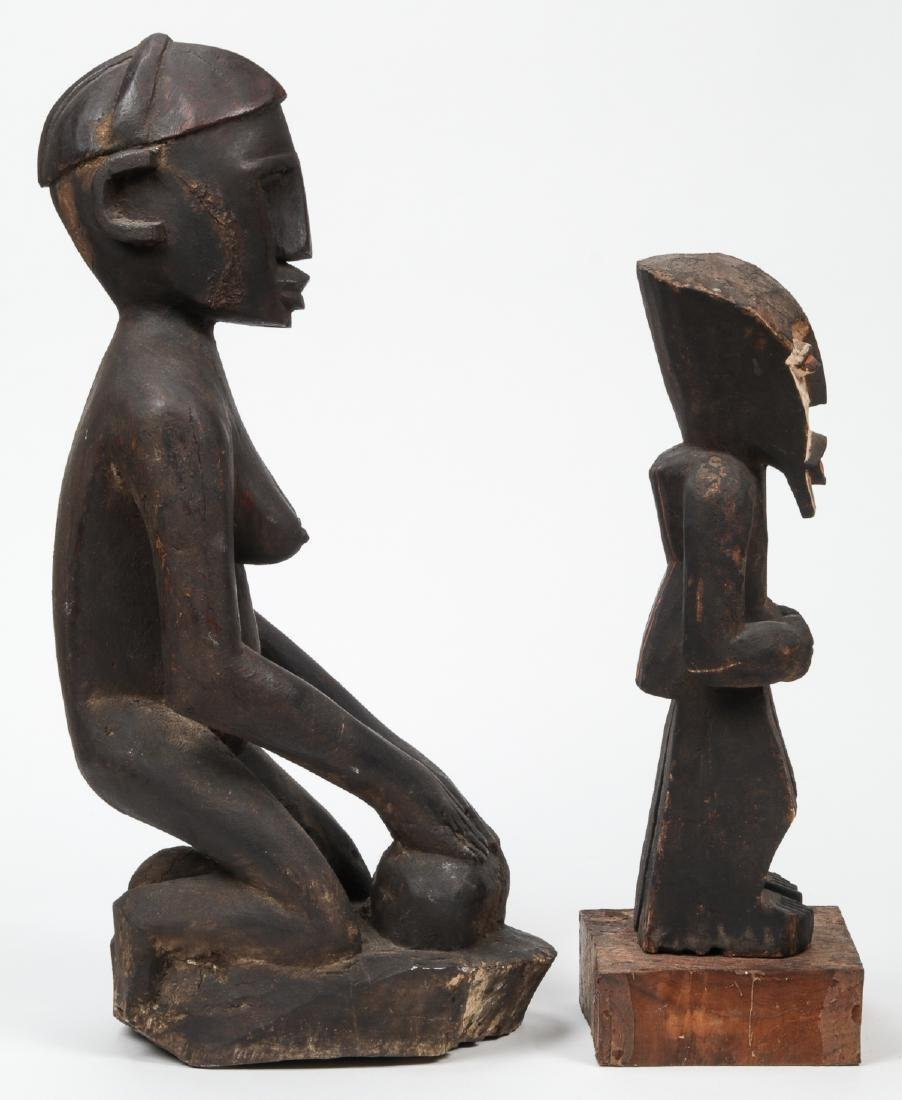 2 African Carved Wood Tribal Sculptures - 2