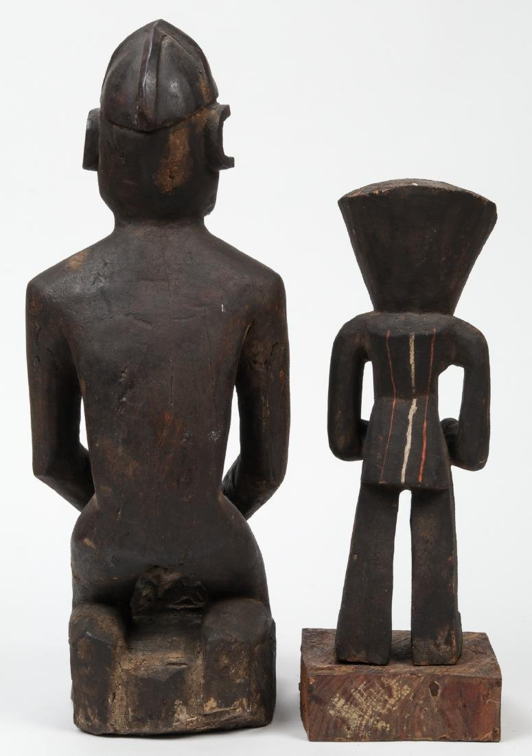 2 African Carved Wood Tribal Sculptures - 3