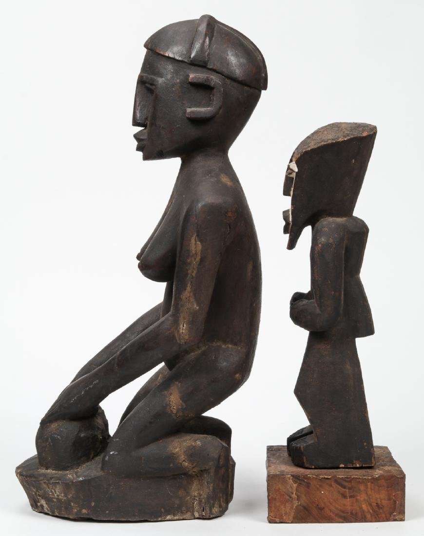 2 African Carved Wood Tribal Sculptures - 4