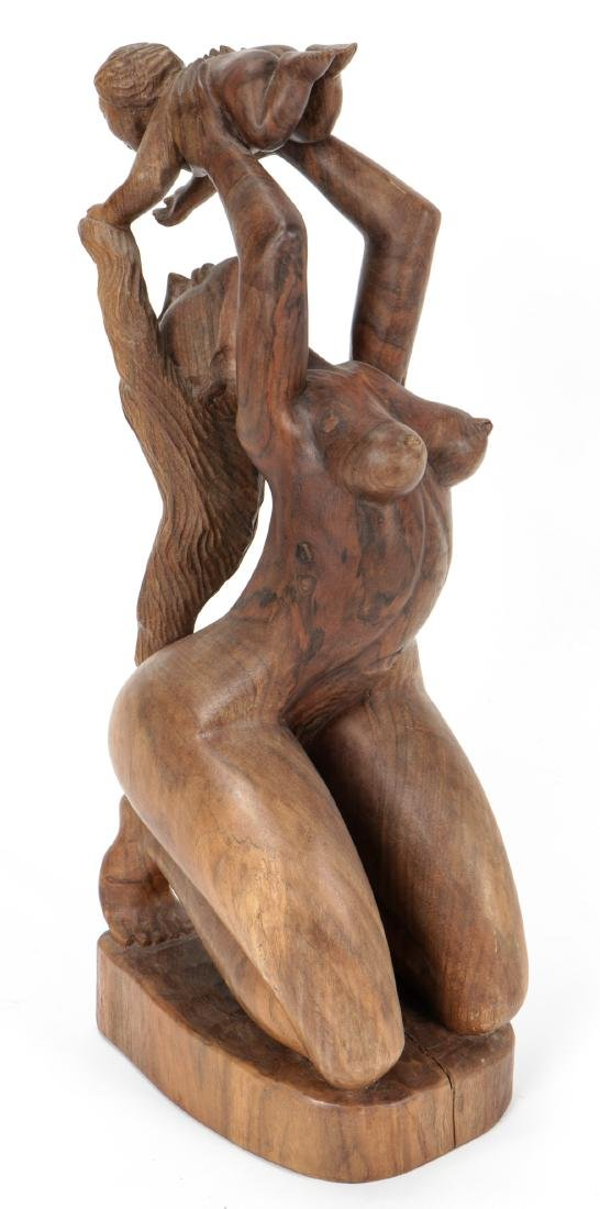"""Gabriel Cevallo (20th c.) Carved """"Mother and Child"""""""