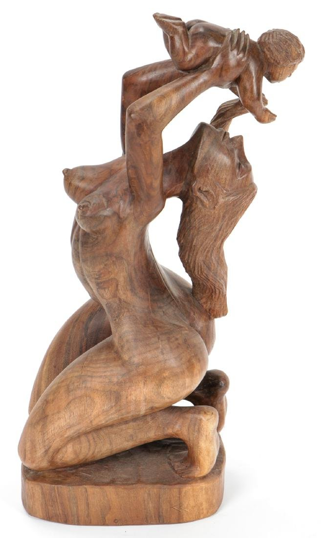 """Gabriel Cevallo (20th c.) Carved """"Mother and Child"""" - 3"""