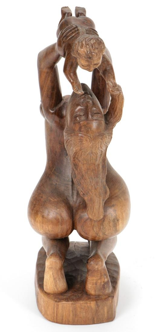 """Gabriel Cevallo (20th c.) Carved """"Mother and Child"""" - 4"""