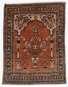 Antique Hadji Jalili Tabriz Prayer Rug Persia 45 x