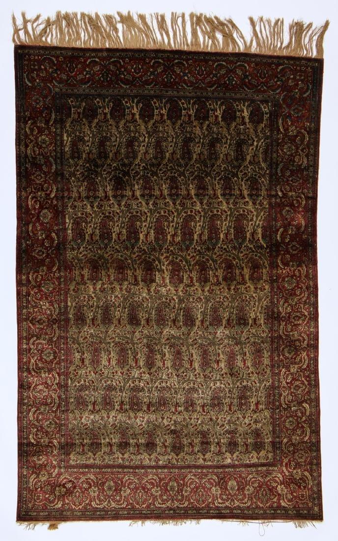 Antique Silk Kashan Rug, Persia: 4'2'' x 6'6''