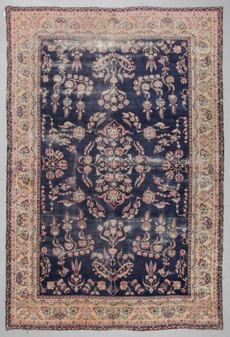 Antique Kerman Rug, Persia: 9'6'' x 14'2''