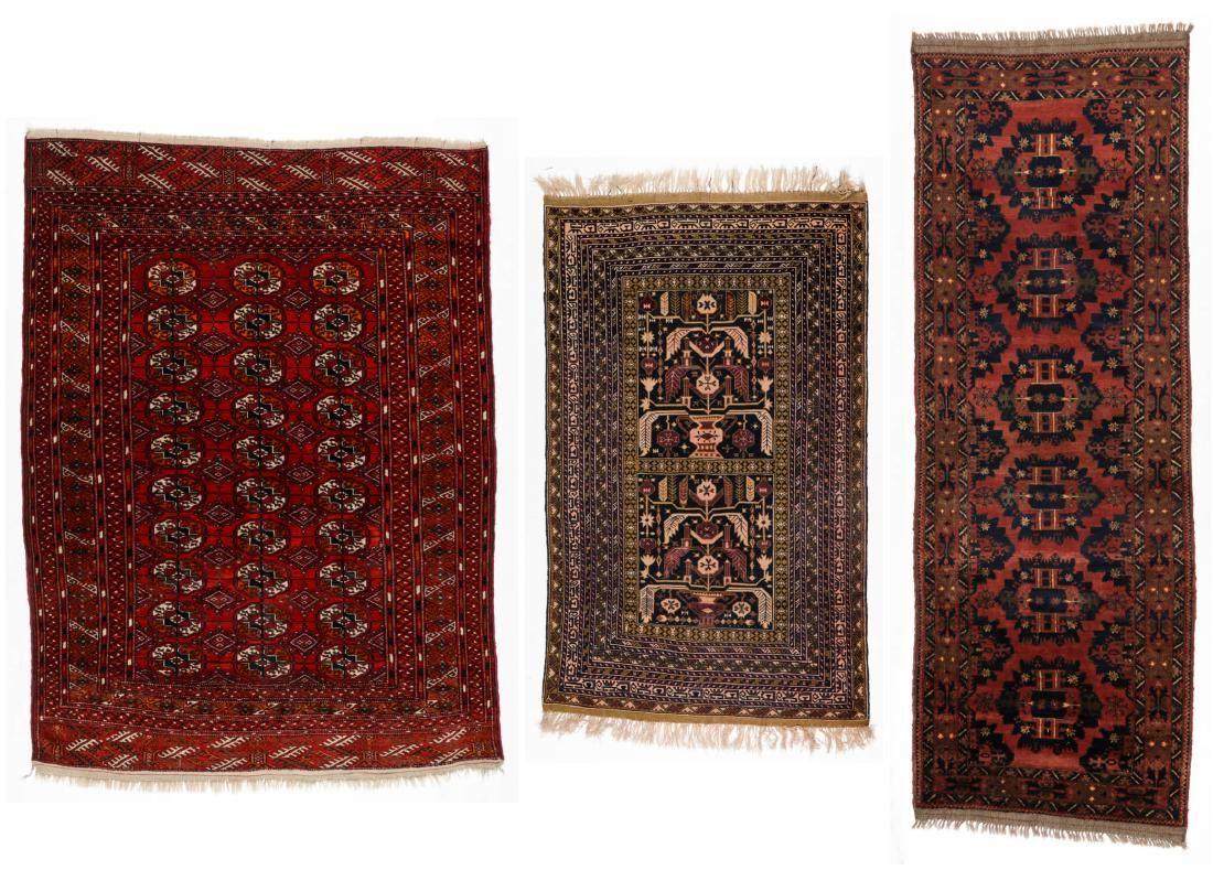 3 Turkmen & Afghan Rugs