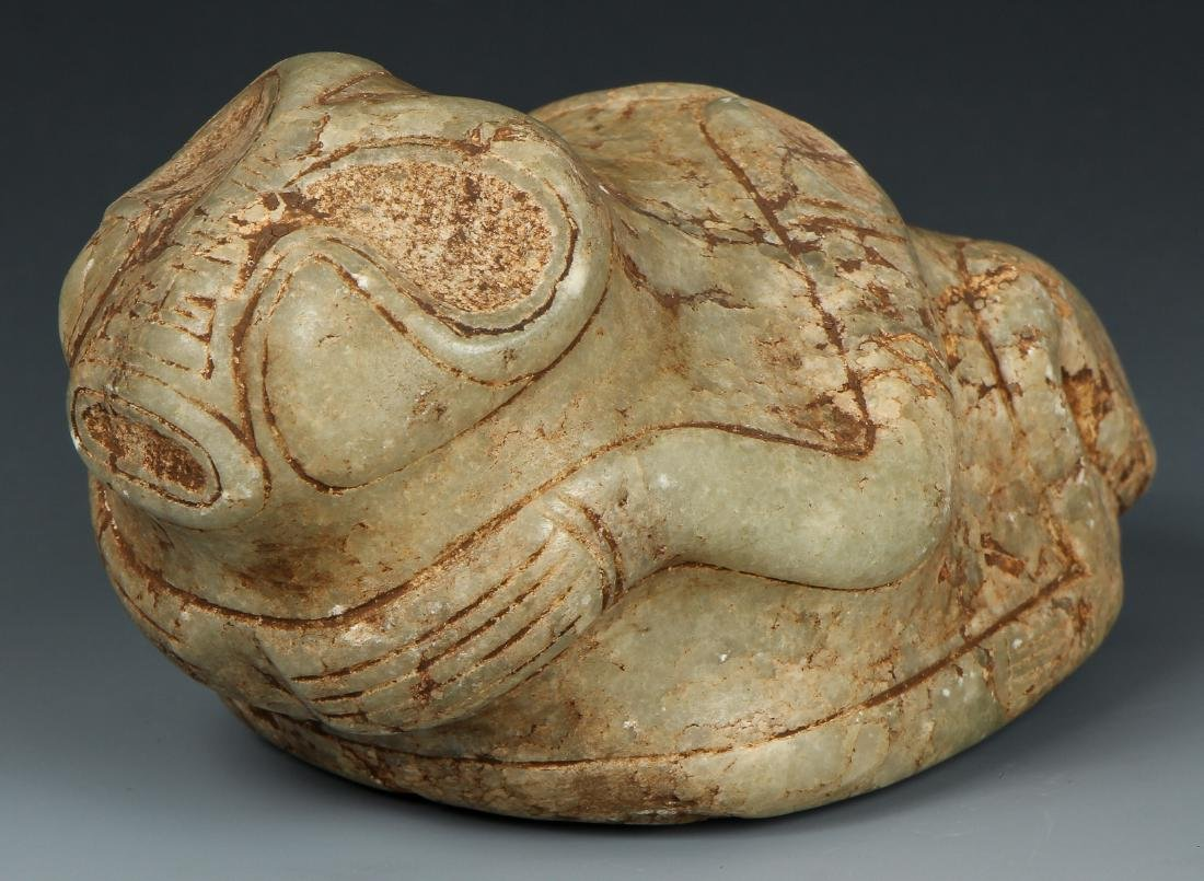 Taino. Odd Stone Animal/human Transition Cemi/Stamp