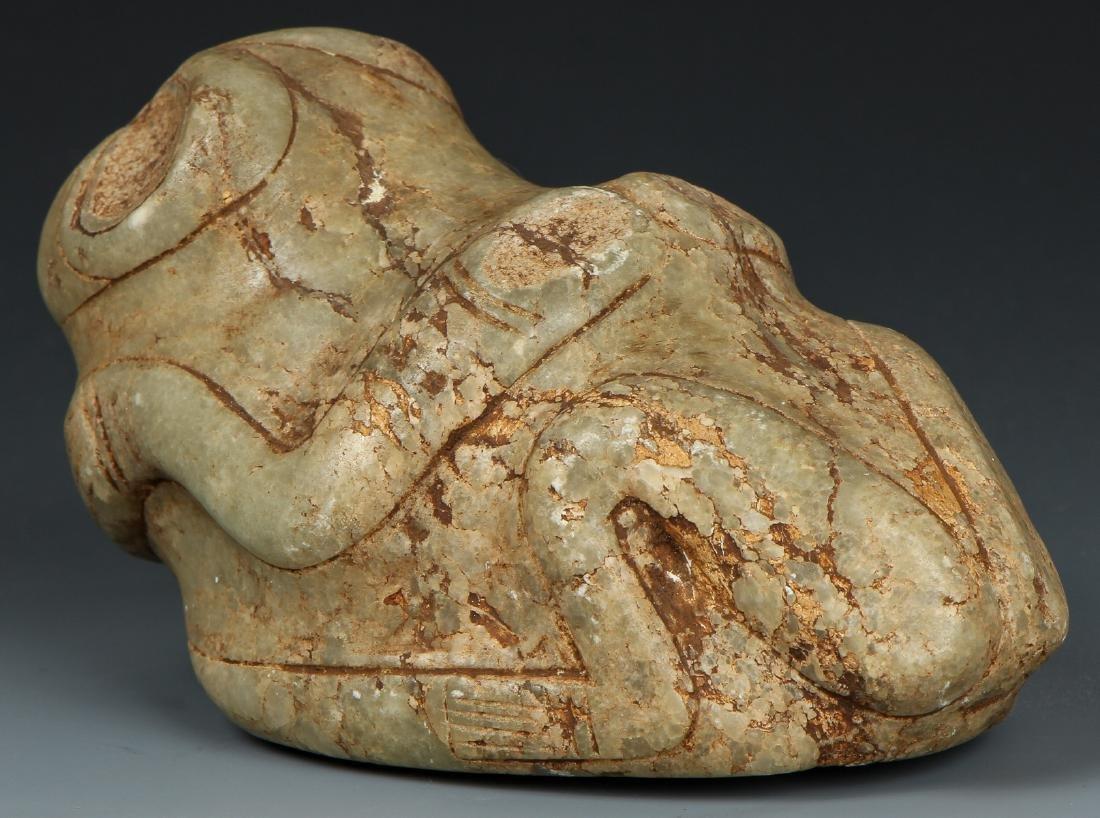 Taino. Odd Stone Animal/human Transition Cemi/Stamp - 5