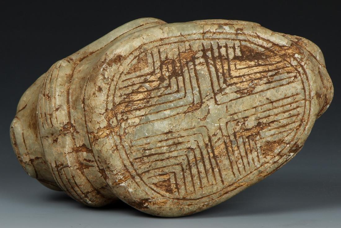 Taino. Odd Stone Animal/human Transition Cemi/Stamp - 6