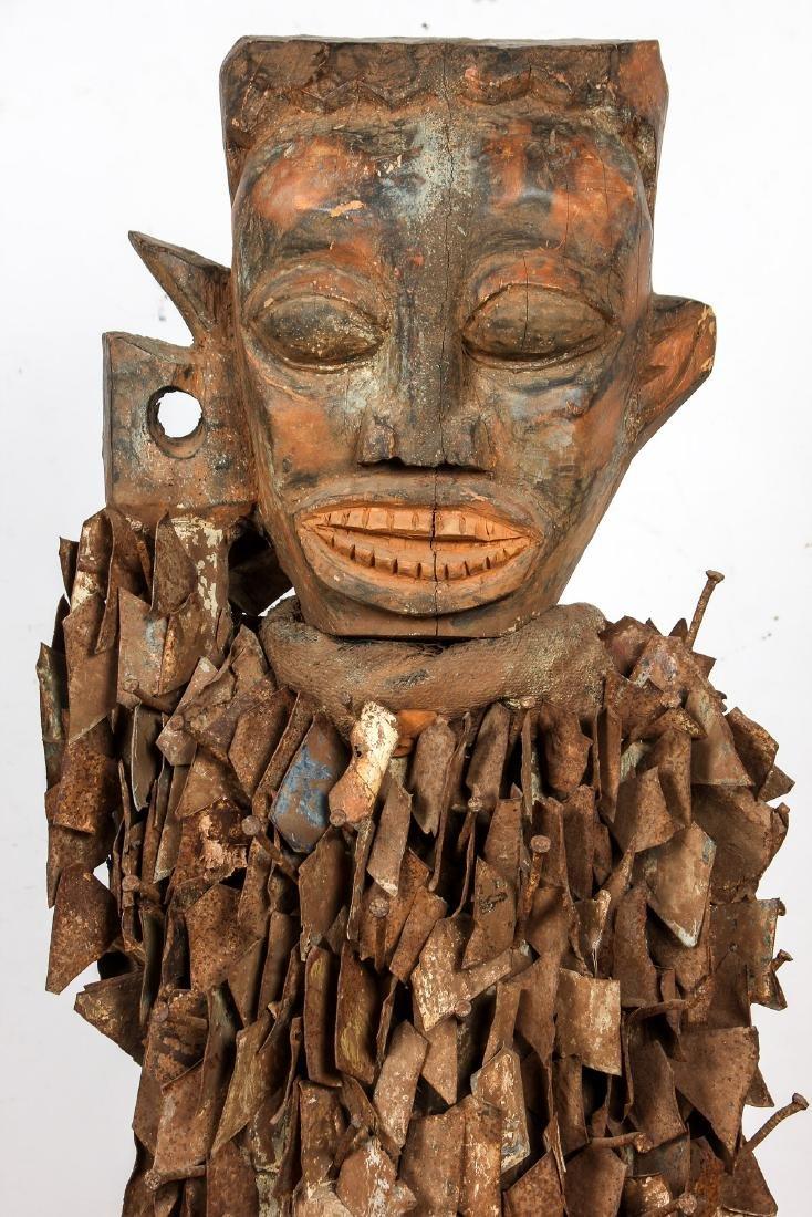 Massive African Congo Nail Fetish Statue - 2