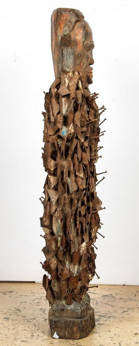 Massive African Congo Nail Fetish Statue - 3