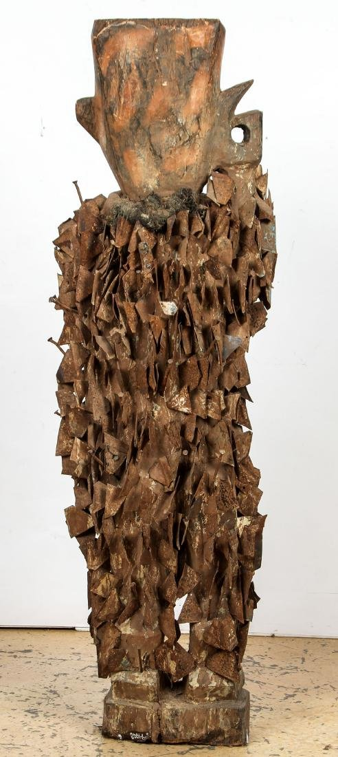 Massive African Congo Nail Fetish Statue - 4