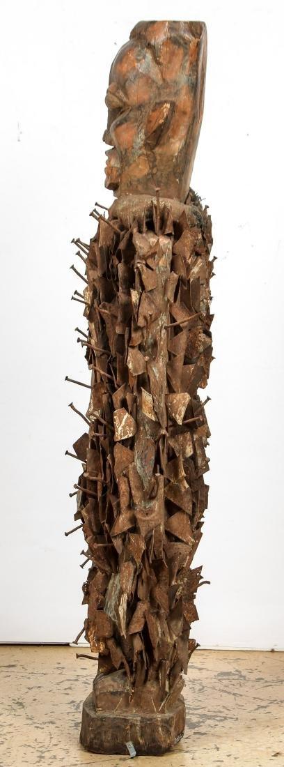 Massive African Congo Nail Fetish Statue - 5