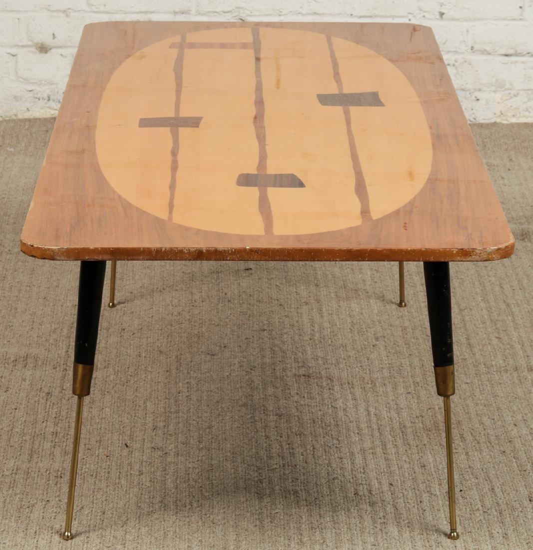 Mid-Century Modern 1950s Atomic Inlaid Wood Coffee - 2
