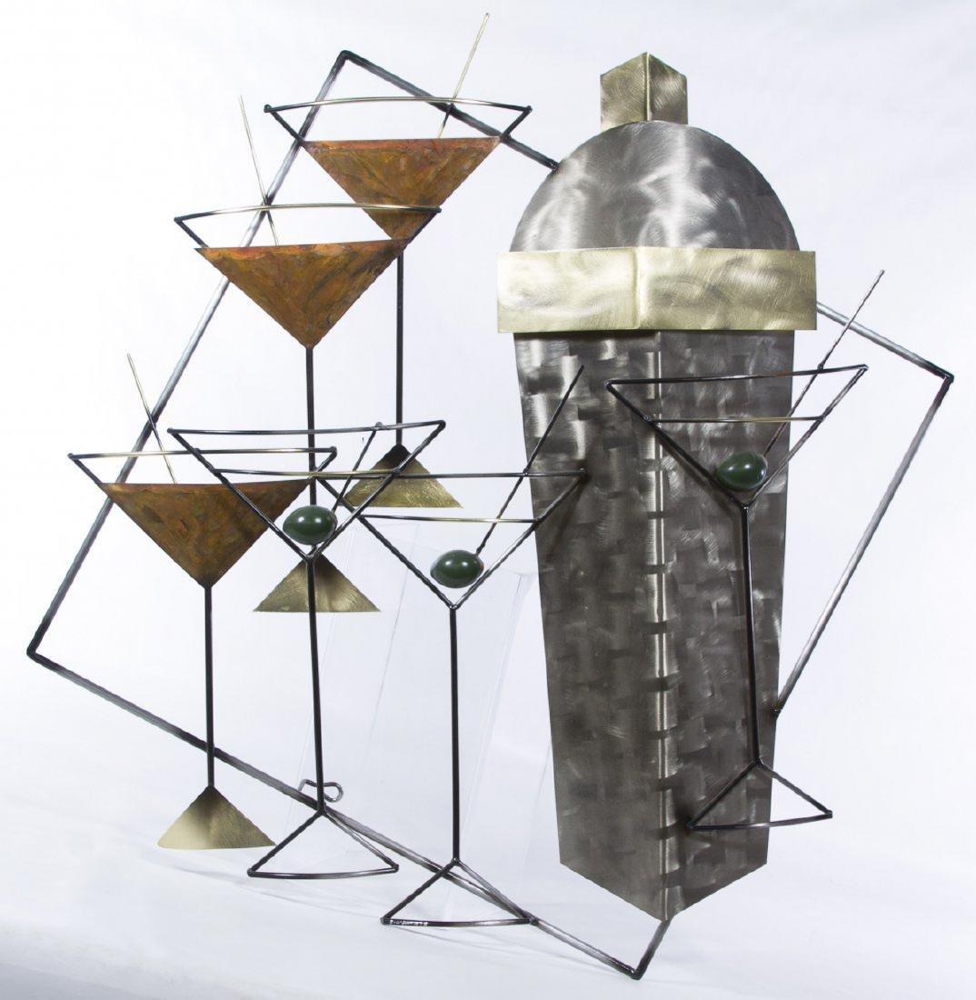 Estate Collection of 9 Curtis Jere Metal Art Sculptures - 4