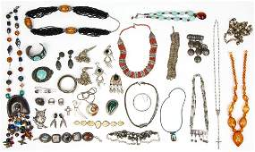 Fine Estate Silver and Costume Jewelry Group Lot