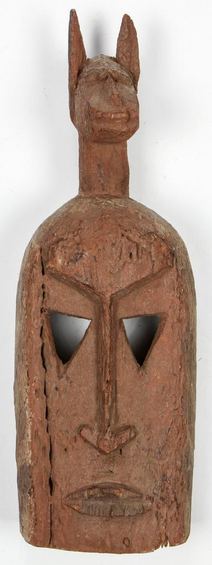 Group of 3 African Artifacts: with old Dogon Mask - 2