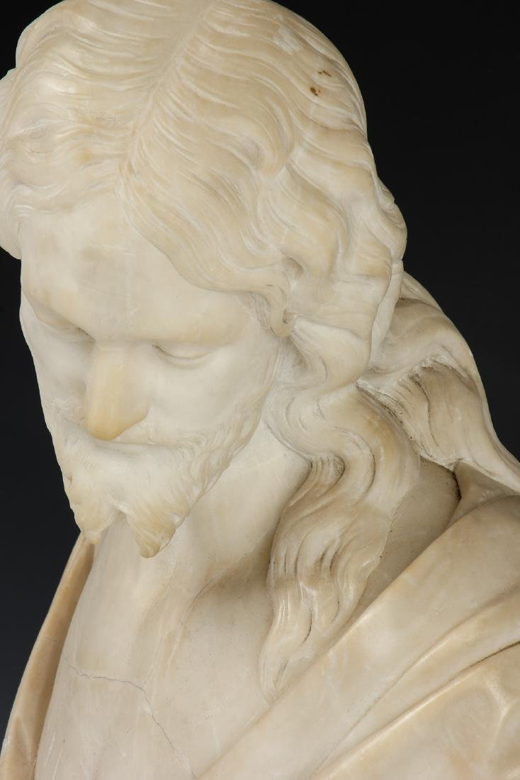 Carved Marble Bust of a Man, late 19th/Early 20th C - 2