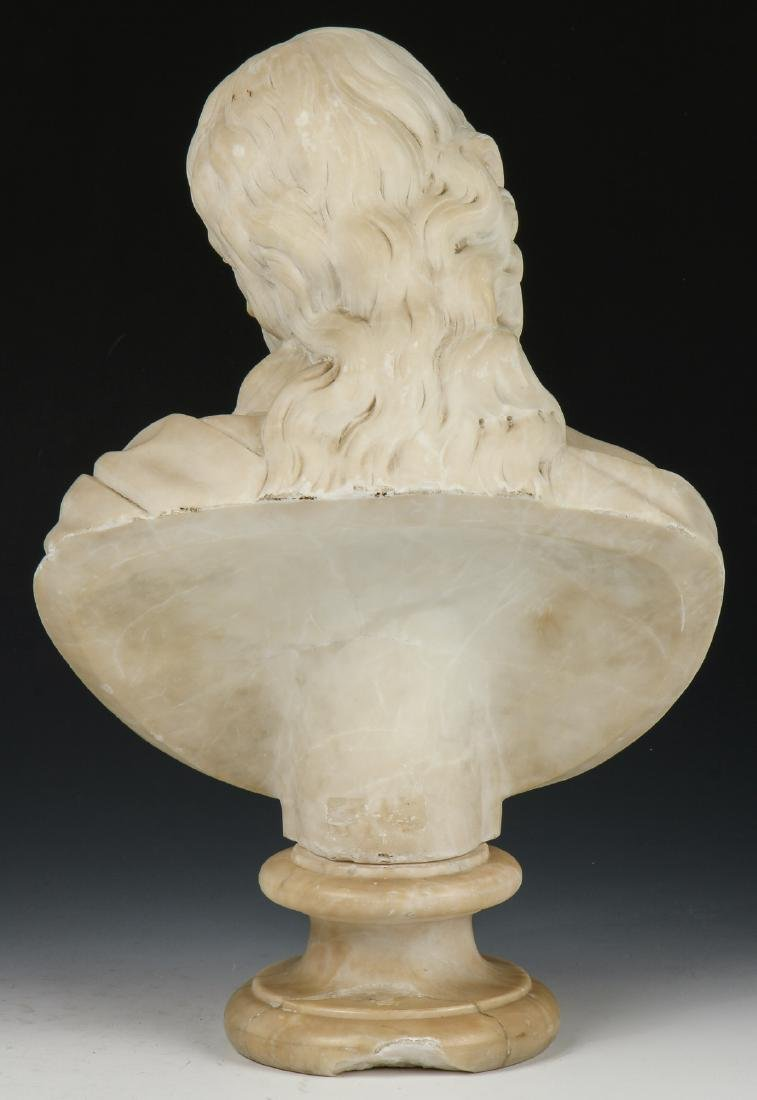 Carved Marble Bust of a Man, late 19th/Early 20th C - 4