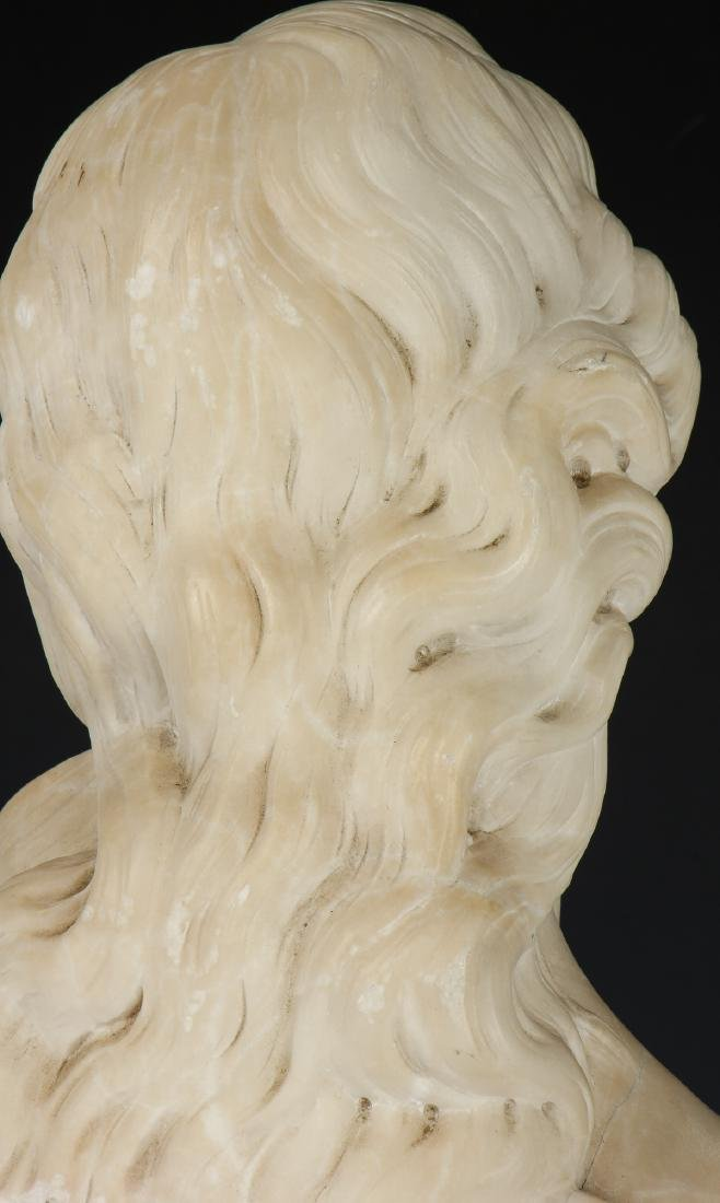Carved Marble Bust of a Man, late 19th/Early 20th C - 5