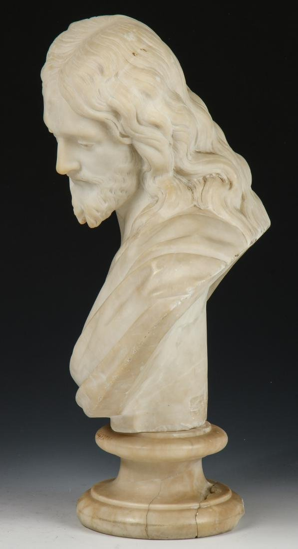 Carved Marble Bust of a Man, late 19th/Early 20th C - 6