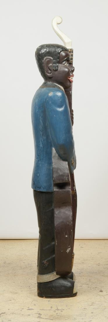 Vintage Carved and Painted Wood Sculpture of a Blues - 5
