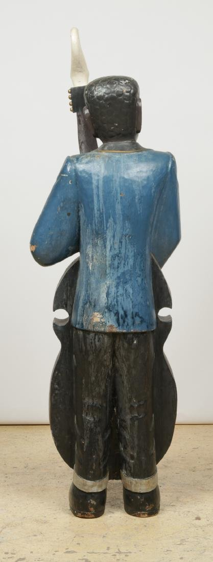 Vintage Carved and Painted Wood Sculpture of a Blues - 6
