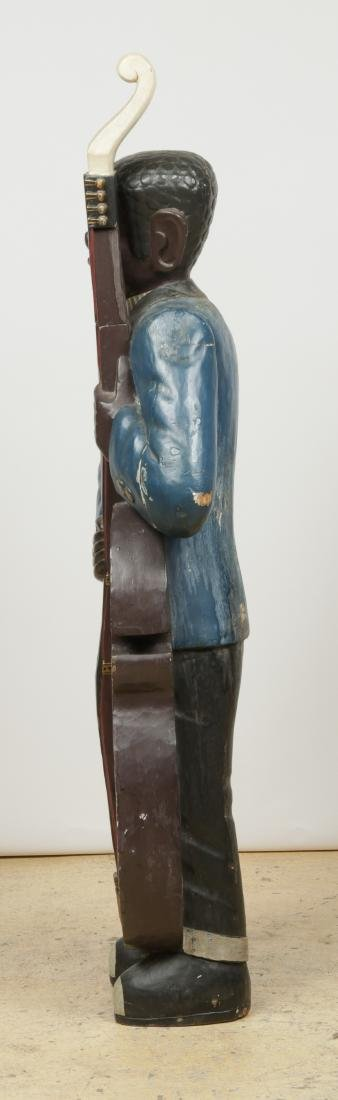 Vintage Carved and Painted Wood Sculpture of a Blues - 8