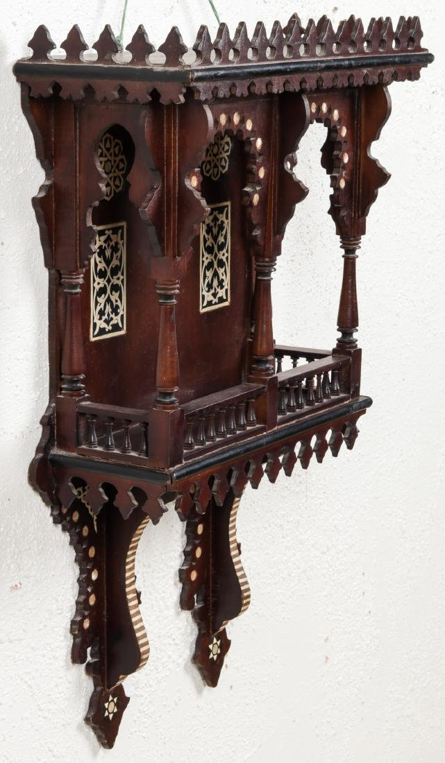 Syrian Wood and Inlay Wall Cabinet - 2