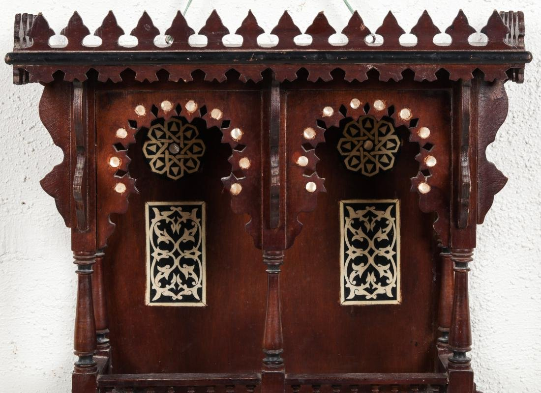 Syrian Wood and Inlay Wall Cabinet - 3