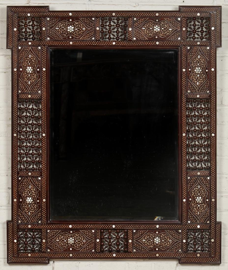 Pair of Large Syrian Wood and Inlay Mirrors - 2