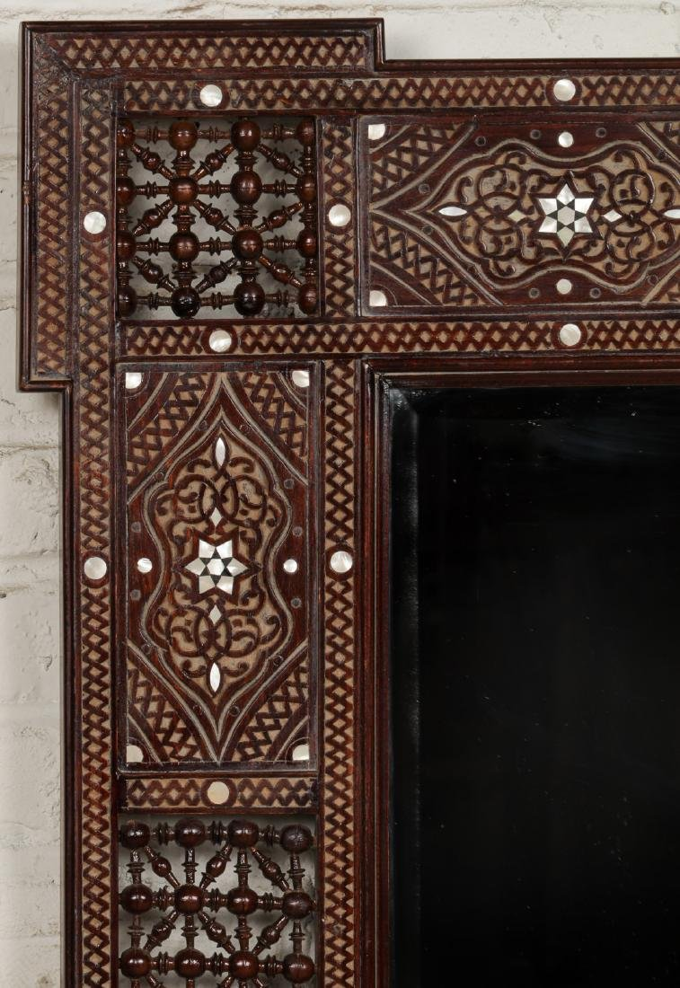 Pair of Large Syrian Wood and Inlay Mirrors - 3