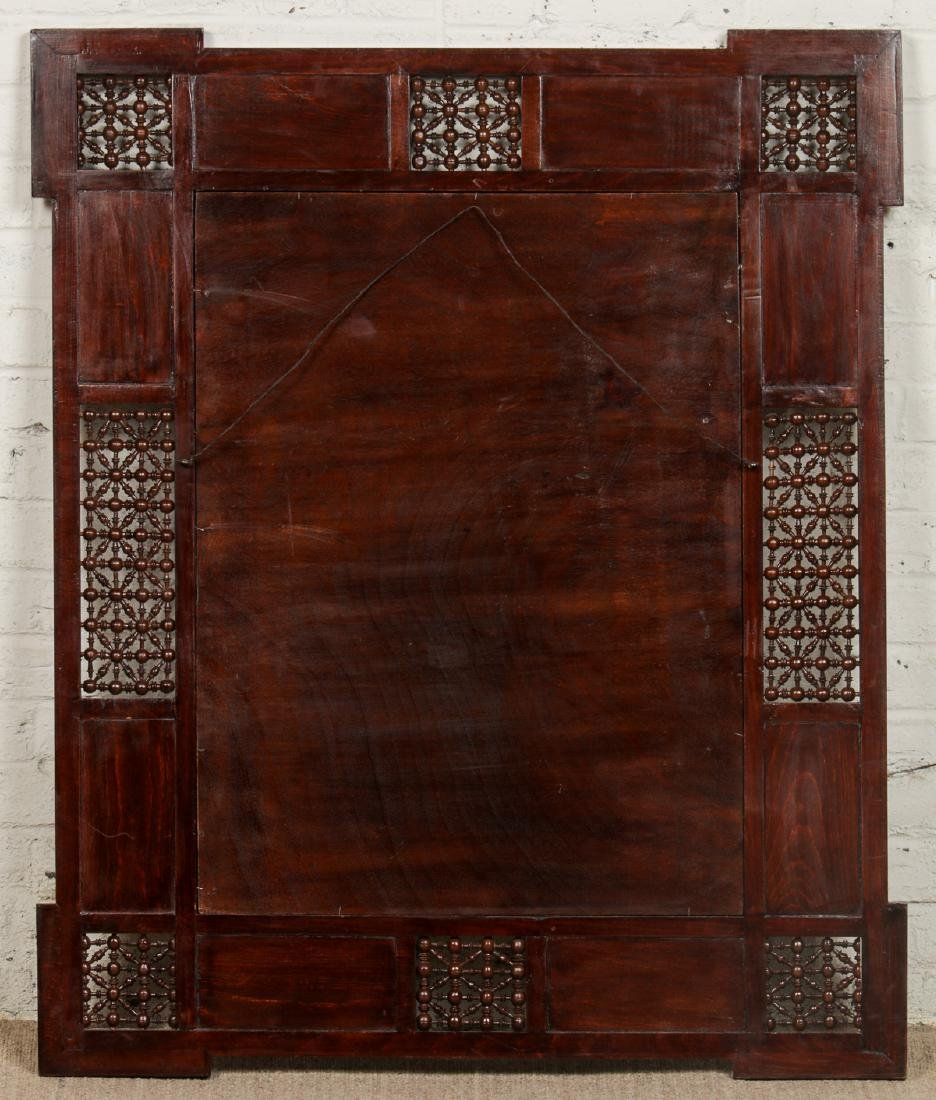 Pair of Large Syrian Wood and Inlay Mirrors - 4