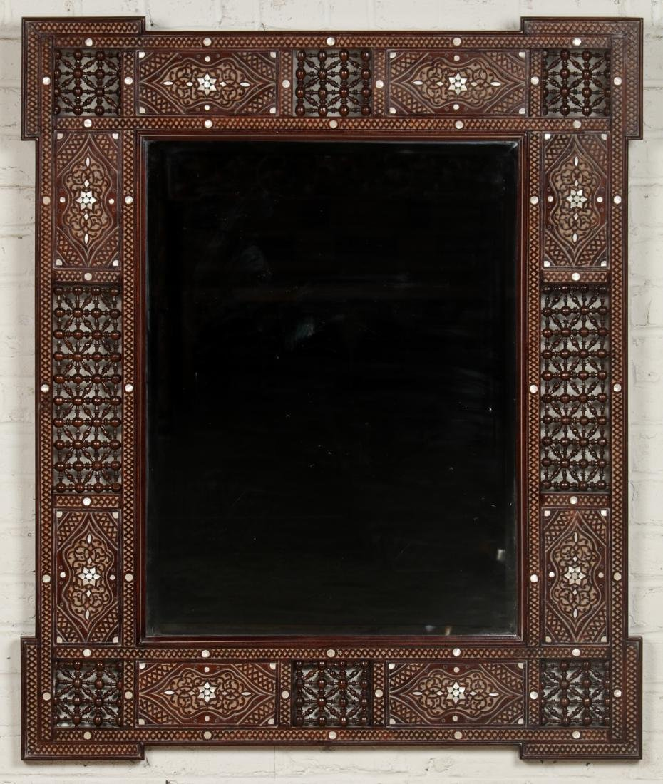 Pair of Large Syrian Wood and Inlay Mirrors - 5