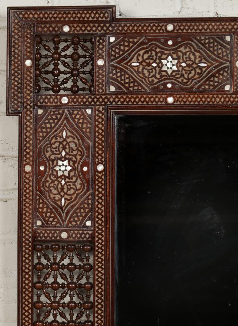 Pair of Large Syrian Wood and Inlay Mirrors - 6