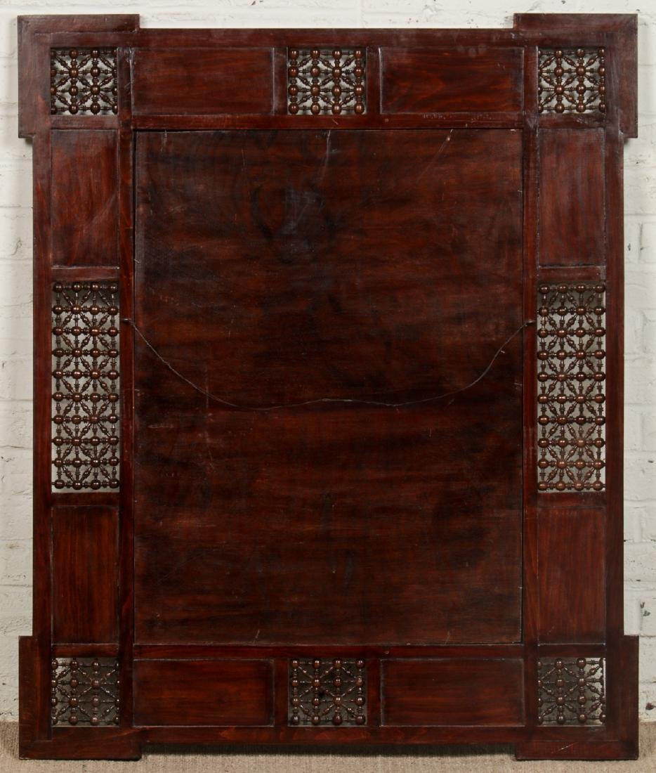 Pair of Large Syrian Wood and Inlay Mirrors - 7